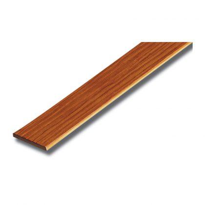 ไม้ระแนงเอสซีจี ขนาด 7.5x300x0.8 ซม. สีสักทองประกายเงาพลัส