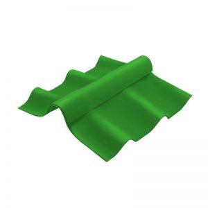 ครอบสันปรับมุม ไฟเบอร์ซีเมนต์ เอสซีจี รุ่นลอนคู่ ตัวบน สีเขียว