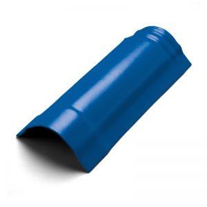 ครอบสันโค้ง(ระบบครอบ 3 ชิ้น) ไฟเบอร์ซีเมนต์ เอสซีจี รุ่นพรีม่า สีน้ำเงินทอประกาย