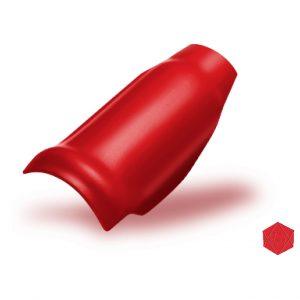 ครอบโค้งตะเข้ ไฟเบอร์ซีเมนต์ เอสซีจี รุ่นลอนคู่ สีแดงประกายมุก