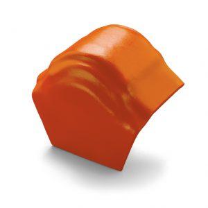 ครอบโค้งปิดปลาย (ระบบครอบ 3 ชิ้น) ไฟเบอร์ซีเมนต์ เอสซีจี รุ่นพรีม่า สีส้มทอประกาย