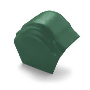 ครอบโค้งปิดปลาย (ระบบครอบ 3 ชิ้น) ไฟเบอร์ซีเมนต์ เอสซีจี รุ่นพรีม่า สีเขียวกฤษณา