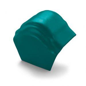 ครอบโค้งปิดปลาย (ระบบครอบ 3 ชิ้น) ไฟเบอร์ซีเมนต์ เอสซีจี รุ่นพรีม่า สีเขียวทอประกาย
