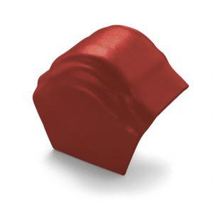 ครอบโค้งปิดปลาย (ระบบครอบ 3 ชิ้น) ไฟเบอร์ซีเมนต์ เอสซีจี รุ่นพรีม่า สีแดง