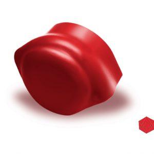 ครอบโค้งปิดปลาย ไฟเบอร์ซีเมนต์ เอสซีจี รุ่นลอนคู่ สีแดงประกายมุก