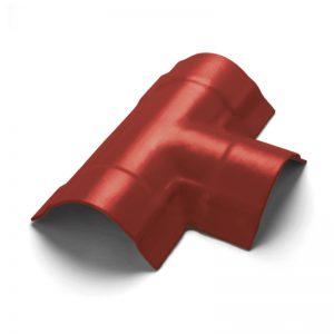 ครอบ 3 ทาง T ไฟเบอร์ซีเมนต์ เอสซีจี รุ่นพรีม่า สี แดง