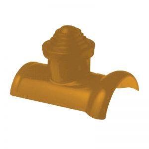 ชุดครอบโค้งปล่อง เอสซีจี สำหรับหลังคาเอ็กซ์เซลล่า คลาสสิค-สีเหลืองทองอุไร