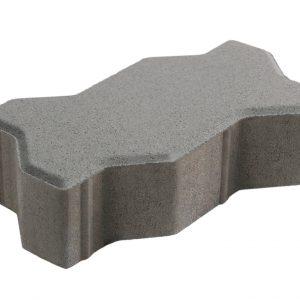 บล็อกปูพื้น เอสซีจี รุ่นคดกริช ขนาด 11.25 x22.5 x 6 ซม. สีเทา
