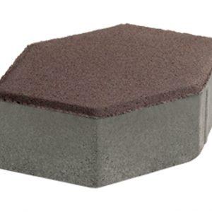 บล็อกปูพื้น เอสซีจี รุ่น จินตนาการ-ศิลาหกเหลี่ยม 6 ซม. สีน้ำตาล