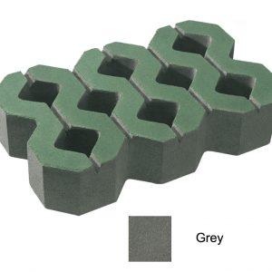 บล็อกปูพื้น เอสซีจี รุ่น บล็อกสนามหญ้า 40 x 25 x 8 ซม. สีเทา (ไม่มีผิวหน้า)